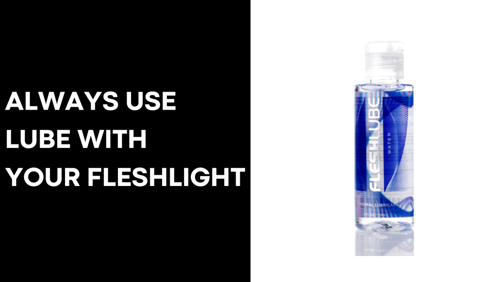 always use lube with your fleshlight with lube banner