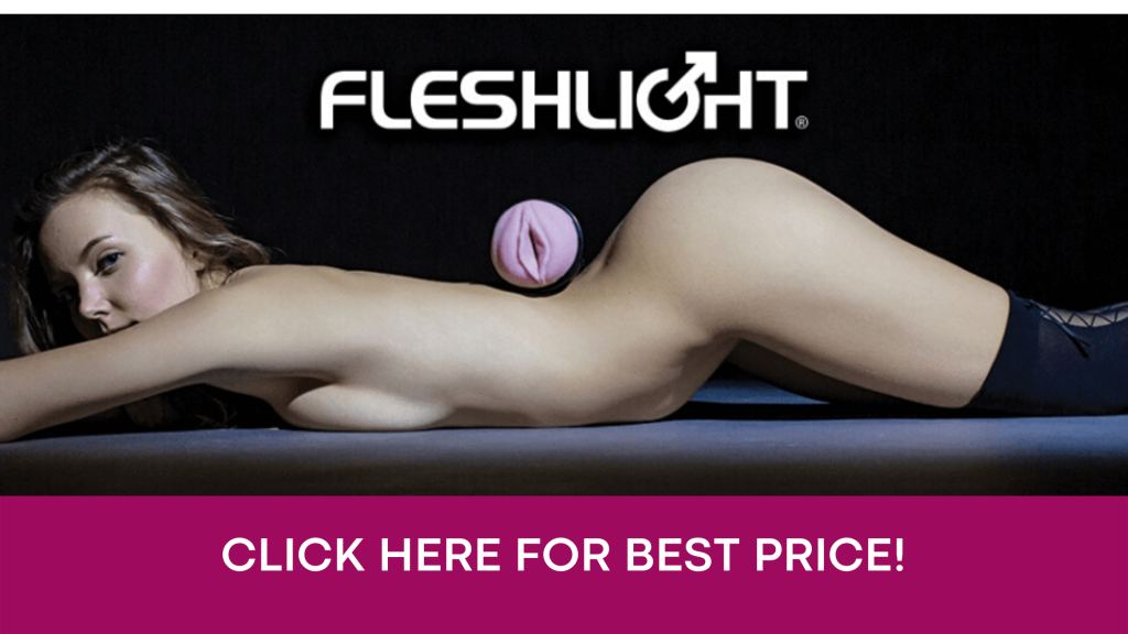 click here banner with fleshlight on women back