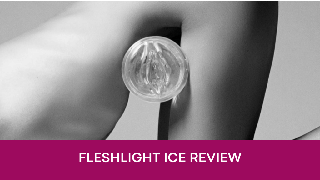 banner with black & white legs and Fleshlight Ice
